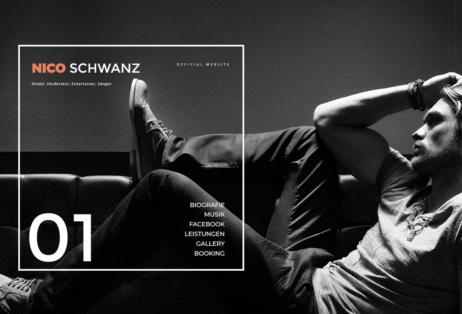 Nico Schwanz offical website von creon-media werbeagentur